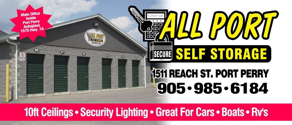 10 ft Ceilings • Security Lighting • Great for Cars • Boats • RVs - Our storage facility